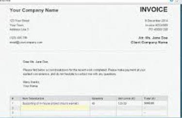 6. Invoice to Me
