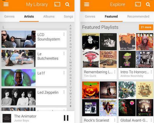 3. Google Play Music