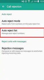 1. Check Auto Reject List