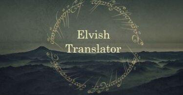 Best English to Elvish Translators