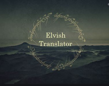 Best English to Elvish Translators