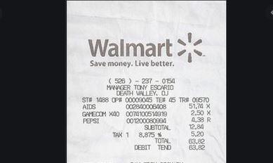 Fake Walmart Receipt Generator