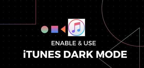 iTunes Dark Mode on Windows PC