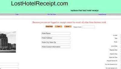3. Losthotel Receipt