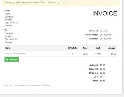 10. Free Invoice Generator